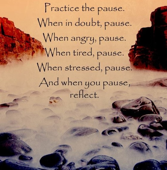 JUST PAUSE